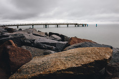 Sassnitz Pier color (frank_frenzel) Tags: sassnitz holiday colors rain storm sea water