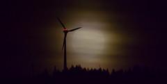 Moonlight Silhouette (oliko2) Tags: moon fall moonlight mist fog windturbine rosskopf mountain freiburg blackforest silhouette trees germany schwarzwald autumn