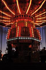untitled (Melissa_JMH) Tags: carnival fair swing ride chairswing outside outdoors oregon oregonstatefair red lights light dark people nikon nikond700 d700 photography