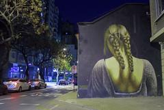 Cuando me das la espalda (Imthearsonist) Tags: callemerced santiago chile streetart urban exploration art mural nightshot nightphotography urbanlandscape atnight ciudad arte urbano nocturno