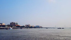 kolkata & ganga (istiaque.mohammad) Tags: mobile mobilography mobilephone smartphone samsung galaxy s6 sky nature river city bridge blue india westbengal kolkata vsco fotor water androidography landscape travel transport tourism phonography phonecamera cameraphone