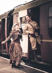 Platform Farewell ! (Peter Greenway) Tags: victorianedwardian madexplorer farewell gothic inventor platform hgwells goodbye steamtrain explorer steampunk adventurer madinventor