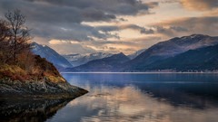 2015 Skye Easter - Dawn Across Loch Duich (Birm) Tags: loch duich scotland dawn water morning five sisters kintail mountain north west hills landscape sony shore trees spring