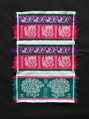 Panels for a Nahua Blouse Mexico (Teyacapan) Tags: nahua embroidery blouses puebla sanmigueltenango cats turkeys bordados textiles