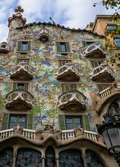The Antoni Gaudi's Casa Batllo Building (Barcelona Spain) (Panasonic Lumix LX100 Compact) (1 of 1) (markdbaynham) Tags: barcelona city spain spainish espana espanol urban metropolis historic famous anton gaudi building casa batllo ornate design catalan panasonic dmc lumix lumixer lx100 dmclx100 compact 2475mm f1728