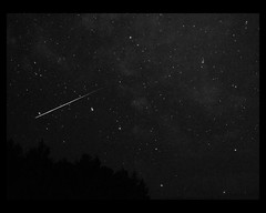 Big Dipper Photobomb bw 2016 (chuckthewriter) Tags: bigdipper meteorshower