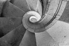 (Calovi) Tags: 2016 europa europe panasonic portugal tomar conventodecristo stair treppe scala escalera escada helicoidal bw bn pb sw stone stein pedra