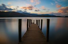 Derwent Water sunset (ReevesWild) Tags: sunset water lake derwent derwentwater pier jetty longexposure leefilters bigstopper sky cloud clouds colour