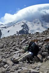 Dad's Seen Enough (Sotosoroto) Tags: dayhike hiking mtrainier burroughsmountain washington cascades mountains