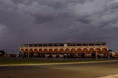 Storm behind the Rodeo Grounds (jdawn1982) Tags: project365 woodwardelksrodeo storm stormy thunderstorm lightning night woodwardcounty woodwardok oklahoma october2016 1365