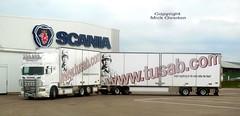 Scania CYJ004 roadtrain arrives at workshop for service (sms88aec) Tags: scania cyj004 roadtrain arrives workshop for service