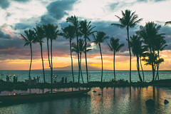 Take Me Somewhere Nice (Thomas Hawk) Tags: grandwailea hawaii maui wailea waldorfastoria waldorfastoriagrandwailea beach clouds humuhumu humuhumunukunukuapuaa palmtree restaurant sunset tree fav10 fav25 fav50 fav100