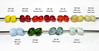 Lauscha_autumn_2016_lg_text (Heather Kelly Glass) Tags: lampwork glass beads colourtesting lauscha nuggets yellow red green tan beige blue milkyway magicsnow miwa mint firgreen iceblue desertsand orientalspice camparired martinired strawberryred bloodred sunyellow snt102 snt081 snt080 sno615 sno685 sno686 snt219 snt220 sno440 sno340