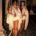 Models recreant l'obra del pintor J. Uribe Robert amb els seus vestits. Foto: Santi Pujolàs.
