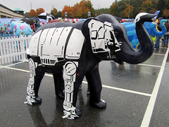 Skywalker by Stephen McKay, Herd of Sheffield Farewell Weekend 2016 (Dave_Johnson) Tags: meadowhall carpark shoppingcentre skywalker stephenmckay starwars atat atatwalker herdofsheffield herd elephant elephants art streetart sculpture sheffchildrens sheffieldchildrenshospitalcharity sheffieldchildrenshospital childrenshospitalcharity childrenshospital sheffield southyorkshire