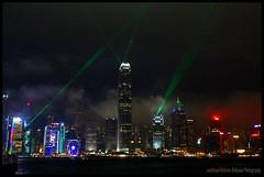 Still Us or Already Them (AHMOMENTE) Tags: hong kong island china skyscraper wolkenkratzer skyline lightshow lasershow night colourful bunt nacht clouds wolken