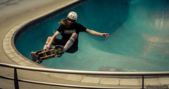 Bondi skate park - DSC09632 (cleansurf2 - Portrait portfolio) Tags: bondi australia skate skateboard park action sport edge blue curves colour color
