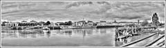 Pano Nantais (1) (au35) Tags: panorama nantes loire ledenantes nb hdr d5000 nikon eau river bateau