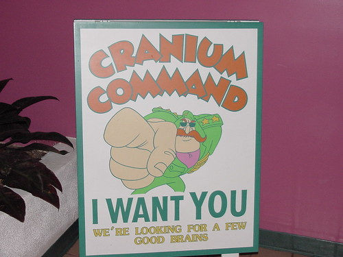 "Cranium Command Wants You sign • <a style=""font-size:0.8em;"" href=""http://www.flickr.com/photos/28558260@N04/30144708976/"" target=""_blank"">View on Flickr</a>"