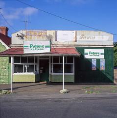 Pt Fairy (Westographer) Tags: ptfairy victoria australia countrytown rural milkbar signage typography oldschool verandah film fujivelvia transparency hassleblad square mediumformat