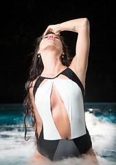 Laguna (KL.Domino.Bray) Tags: domino mode portrait beautiful bikini darkwater darkwaters female gellights green implied night pool tattoo water woman