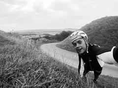 BoPeep Selfie (Fraser Charrett-Dykes) Tags: cycling selfie landscape black white lightroom adobe gopro hero 4 east sussex south downs national park way