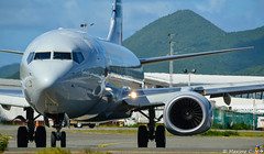N870NN (Maxime C-M ) Tags: sint maarten airplane spotting aircraft caribbean boeing to usa nikon d3200 antilles airport close up juliana taxi departure inbound reflection august world 2016 maho