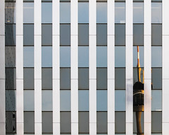 facade (morbs06) Tags: hpp rwi abstract architecture building city cladding curtainwall glazing light lines metal office reflections sky stripes urban windows dsseldorf fernsehtrum