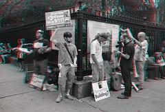 New York, New York (DDDavid Hazan) Tags: newyork ny nyc newyorkcity manhattan downtown oculus 911 september11 anniversary memorial anaglyph 3d bw blackandwhite bwanaglyph 3danglyph 3dstereophotography redcyan redcyan3d stereophotography building7