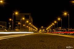 Rue la Nuit (A.Grau) Tags: nocturna calle luces farolas nikon granada andalucia espaa ciudad