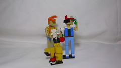 Ash, Misty & Pikahu (andresignatius) Tags: lego miniland pokémon ash misty pikachu