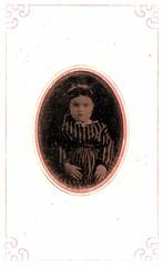 Little Girl In Stripes (ilgunmkr - Thanks for 4,000,000+ Views) Tags: tintype ferrotype victorian child girl littlegirl stripes 19thcentury circa1870