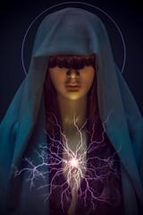 The Seer (jajasgarden) Tags: surreal fantasy lightning prophet seer beforethestorm magic photoshopart seattle creative fineart windstorm mood dramatic power nikon d810 majestic night dark beauty portrait mysterious enchanted postprocessed