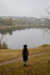101/365 Foggy autumn day (Adanethel) Tags: autumn fall nature landscape lake water portrait self selfportrait 365 365days 365project orange green poland polska youngphotographers
