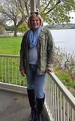 Kris at the river (krislagreen) Tags: tg tgirl transgender transvestite cd crossdress jeans boots scarf femme feminized feminization