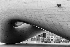 The Bean, Reflected (Darren LoPrinzi) Tags: bw chicago reflection monochrome canon reflections mono chitown bean thebean canoneos7d canon7d