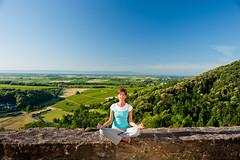 Meditation mit Weitblick: Burg Landeck in der ...