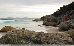 camping 344 (raqib) Tags: camping sea camp sky holiday beach nature water rock river landscape bush rocks tide australia victoria camper rc tidal wilsonsprom iphone squeaky promontory rockformation tidalriver wilsonspromontory squeakybeach