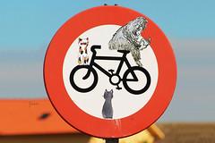 limited edition (call me a dream(er)) Tags: blue red sky house bike bicycle monster azul cat photoshop canon casa rojo corua bicicleta gato cielo bici signal noia monstruo seal noya