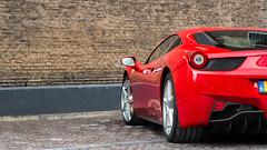 458 Italia (Bas Automotive Photography) Tags: red bw netherlands canon photography photo italia automotive ferrari bas v8 spotting circular pl 2470mm 458 polarisation 550d