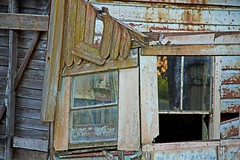 broken window (loobyloo55) Tags: wood blue windows brown house broken window australia newsouthwales shack