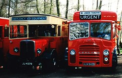 London transport service vehicles at Cobham Bus Museum. (Ledlon89) Tags: bus london stl lt londonbus londontransport lorries servicevehicles cobhambusmuseum aecregent breakdowntender