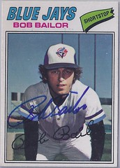 1977 O-Pee-Chee - Bob Bailor #48 (Jays 1st pick in the 1976 expansion draft) - Autographed Baseball Card (WhiteRockPier) Tags: baseball card signed autographed torontobluejays opc opeechee