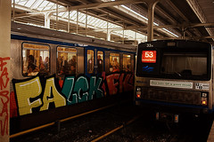 Falck Fk (Kiek Um Goan!) Tags: 2 amsterdam subway graffiti traffic metro um end fk amstel gvb falck kiek intraffic goan e2e