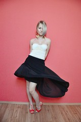 272/365 (simonazacko) Tags: selfportrait girl self project movement wind year skirt blonde 365 blondehair pixiecut