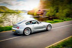 BMW Z4M Coupe, Ulswater Boat house, Cumbria (TomScottPhoto) Tags: house car boat automotive cumbria bmw panning coupe 24105mm z4m ulswater 5dmkiii