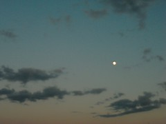Poor quality of a beautiful view of the moon ...shame (misstsang7787) Tags: sky sun moon night clouds view quality poor