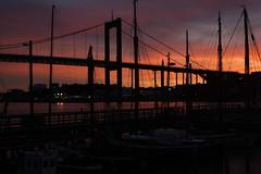 Göteborg harbor (blondinrikard) Tags: sunset göteborg klippan gbgftw
