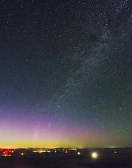 July Northern Lights (Ryan McGinty) Tags: ryanmcginty palouse summer northernlights auroraborealis steptoebutte nightssky washington statepark whitmancounty