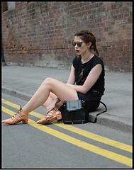 Festival look  Hollie .., fashion blogger @holliescloset  England, United Kingdom (9lookbook.com) Tags: acnestudios beret britishstyle fashionblogger fblogger holliescloset levis501 militaryjacket thighhighboots topshop